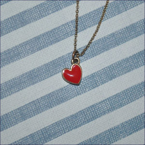 Jewelry - Little Gold & Red Heart Necklace